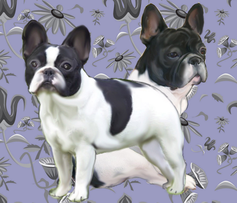 French Bulldog Fat Quarter Fabric fabric by dogdaze_ on Spoonflower - custom fabric
