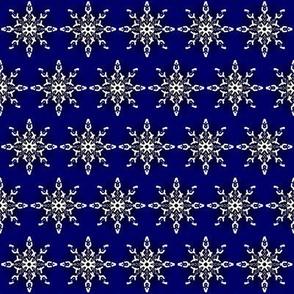 Midnight Snow Flakes Navy