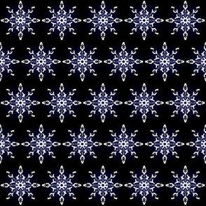 Midnight Snow Flakes Black