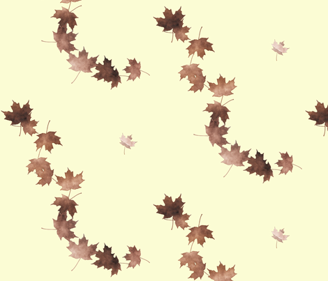 Maple Leaf Cascade 2, L fabric by animotaxis on Spoonflower - custom fabric