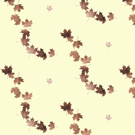 Maple Leaf cascade 2, S fabric by animotaxis on Spoonflower - custom fabric
