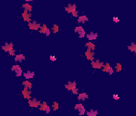 Maple Leaf Cascade 3, L fabric by animotaxis on Spoonflower - custom fabric