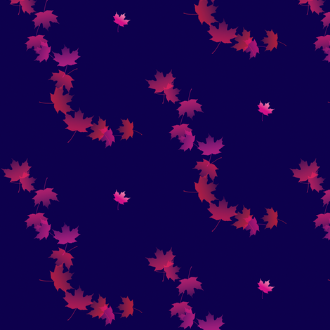 Maple Leaf Cascade 3, S fabric by animotaxis on Spoonflower - custom fabric