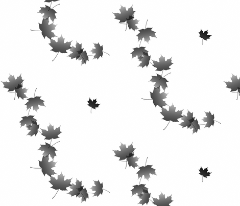 Maple Leaf Cascade 5, L fabric by animotaxis on Spoonflower - custom fabric