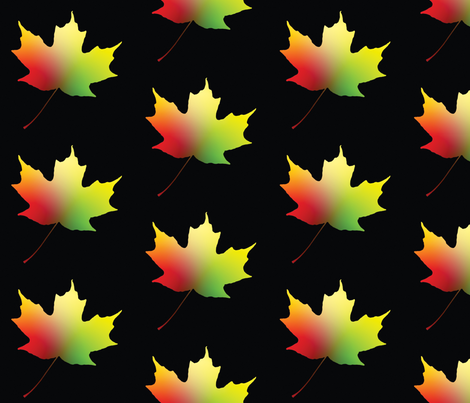 Rainbow Maple Leaf, L fabric by animotaxis on Spoonflower - custom fabric
