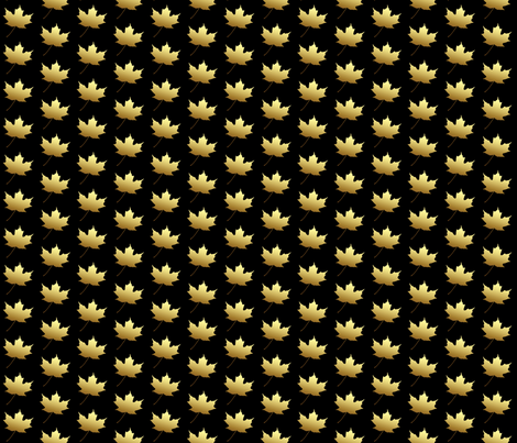 Golden Maple Leaf, S fabric by animotaxis on Spoonflower - custom fabric