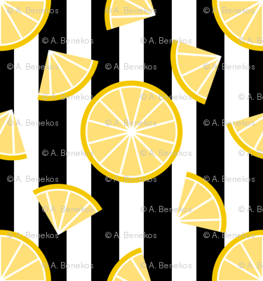 Lemons on Stripes
