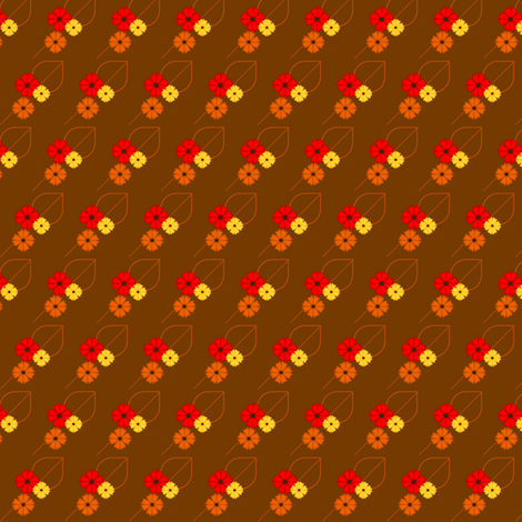 Fall Flowers fabric by ninjaauntsdesigns on Spoonflower - custom fabric