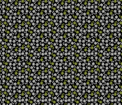 Hexy Flower (black) fabric by mondaland on Spoonflower - custom fabric