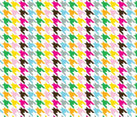 Houndstooth Rainbow fabric by honey&fitz on Spoonflower - custom fabric