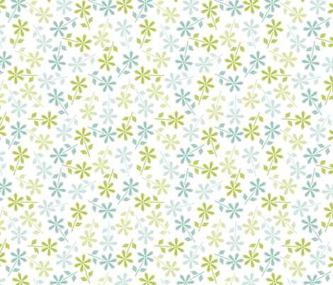 Hexy Flower (white) fabric by mondaland on Spoonflower - custom fabric