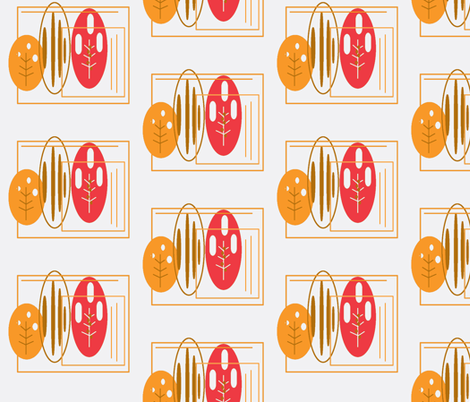 autumn retro leaves fabric by cherthebear on Spoonflower - custom fabric