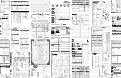 RPG Character Sheets