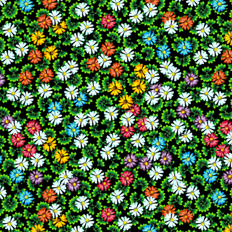 A Little Carnival of Flowers fabric by glimmericks on Spoonflower - custom fabric