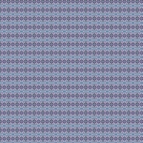 Purple and Blue Tropical Plaid