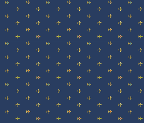 90gold_jewelled_fleurdeliis_blue fabric by glimmericks on Spoonflower - custom fabric