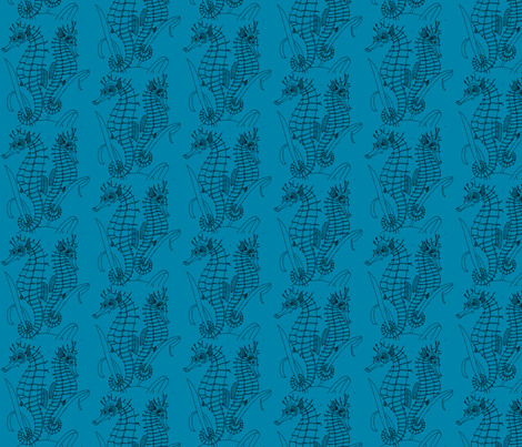 Seahorses fabric by relative_of_otis on Spoonflower - custom fabric