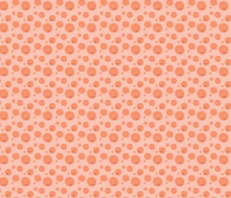 Craftiness! Orange Buttons fabric by wildolive on Spoonflower - custom fabric