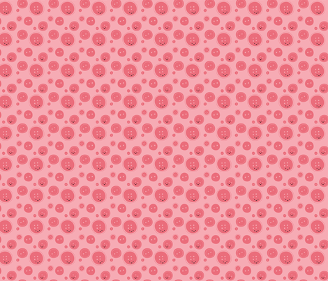 Craftiness! Pink Buttons fabric by wildolive on Spoonflower - custom fabric