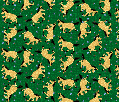 Wild Horses fabric by glimmericks on Spoonflower - custom fabric