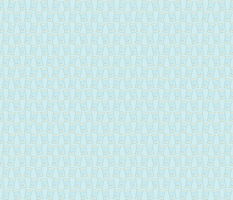 Craftiness! Blue Thread fabric by wildolive on Spoonflower - custom fabric