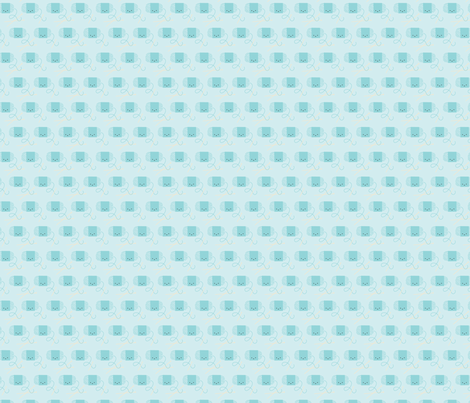 Craftiness! Blue Yarn fabric by wildolive on Spoonflower - custom fabric
