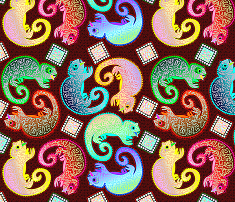 Little Chameleons fabric by glimmericks on Spoonflower - custom fabric