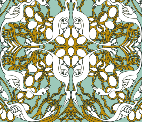Nesting fabric by edsel2084 on Spoonflower - custom fabric