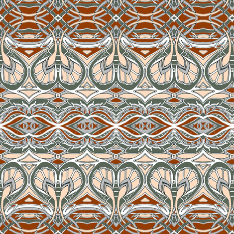 Swirlique Nouveau (sand and ash) fabric by edsel2084 on Spoonflower - custom fabric
