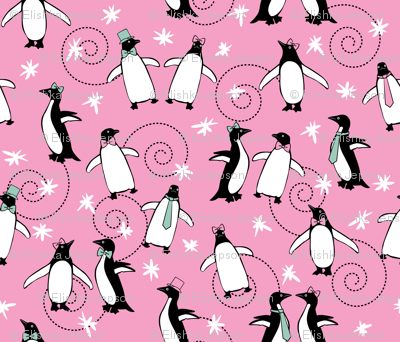 Penguins Puttin' On The Ritz (Pink)