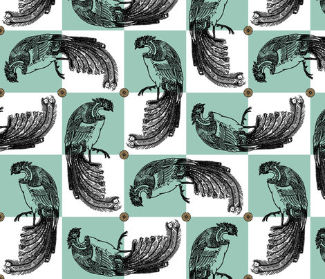 Imperial Peacocks fabric by veritybrown on Spoonflower - custom fabric