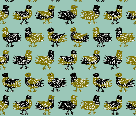 Pigeons fabric by yellowstudio on Spoonflower - custom fabric