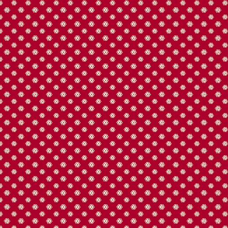Tiny Red Flower fabric by nanetteregan on Spoonflower - custom fabric