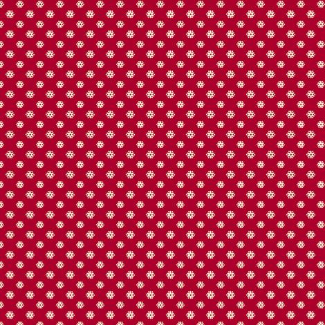 Tiny Red Flower fabric by nanetteregan on Spoonflower - custom fabric
