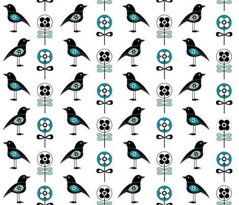 Scandi_birds1 fabric by peppermintpatty on Spoonflower - custom fabric