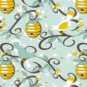 Rrrall_about_the_birds_and_the_bees_-_restricted_colours__-_soft_spoonflower_blue_shop_thumb