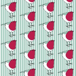 Little Robin on Stripes