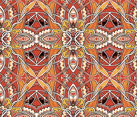 When the Frost is on the Pumpkin fabric by edsel2084 on Spoonflower - custom fabric