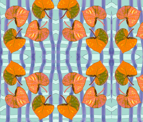 Leaves on Water fabric by nalo_hopkinson on Spoonflower - custom fabric