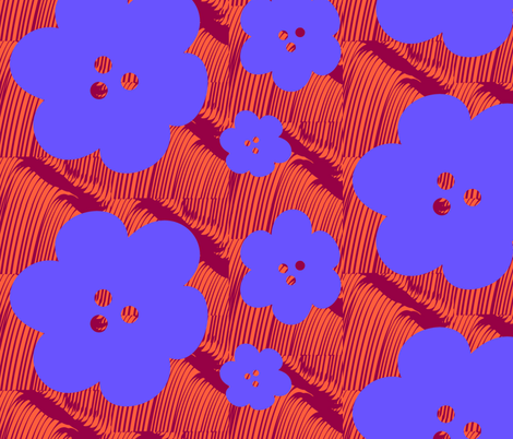 KreyFlowerV2D fabric by dolphinandcondor on Spoonflower - custom fabric