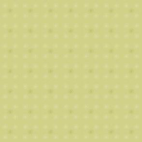 Soft muted yellow compass pattern.