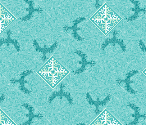 ©2011 Blue Sky Crows fabric by glimmericks on Spoonflower - custom fabric