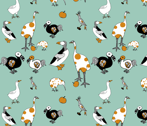 Extinct birds! fabric by grahek on Spoonflower - custom fabric