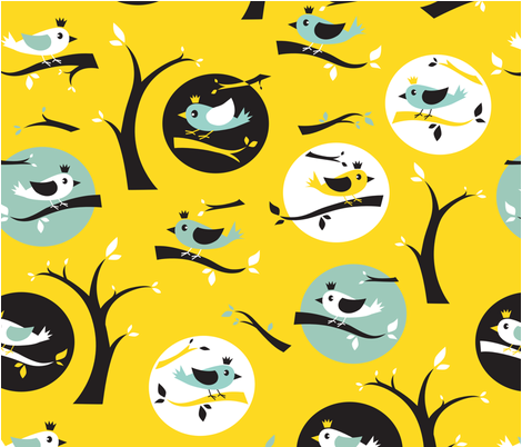 Bird_watching_2 fabric by squirrelgirl on Spoonflower - custom fabric