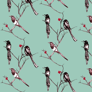 one for sorrow, two for joy......(cherry)