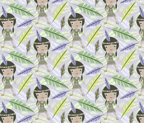Native American Girl fabric by mktextile on Spoonflower - custom fabric