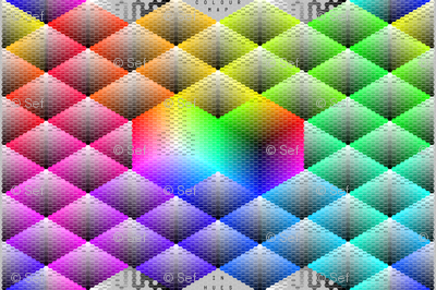 large hue triangle palette