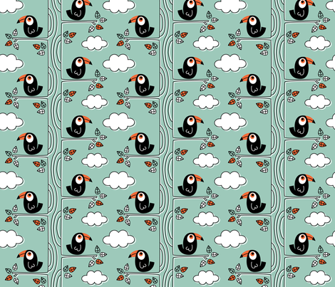 Birds_Hornbill fabric by rosalie409 on Spoonflower - custom fabric
