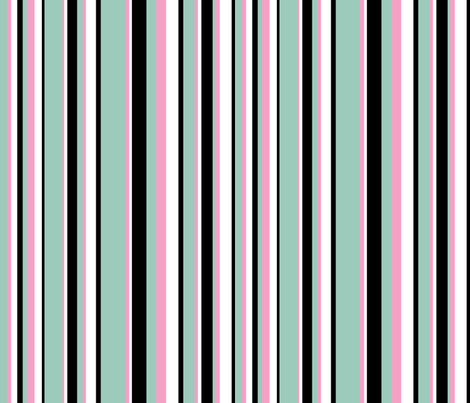 Penguins Puttin' On The Ritz Stripe fabric by robyriker on Spoonflower - custom fabric