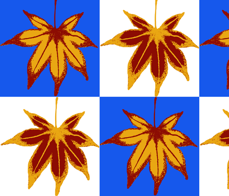 Patchwork Autumn Leaves fabric by nezumiworld on Spoonflower - custom fabric